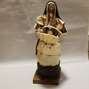 Paper Machete figurine w basket